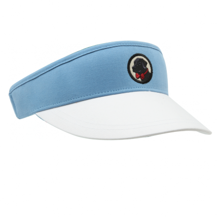 Baby Blue and White Visor